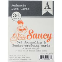 Saucy Authentic Life Cards 36/Pkg NOTM304286