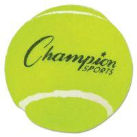 "Champion Sports Tennis Balls, 2 1/2"" Diameter, Rubber, Yellow, 3/Pack CSITB3"