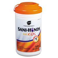 Sani Professional Hands Instant Sanitizing Wipes for Kids, 5 x 7 1/2, White, 300/Pk, 6 Pks/Ct NICP97584