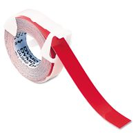 """DYMO Self-Adhesive Glossy Labeling Tape for Embossers, 3/8"""" x 12 ft. Roll, Red DYM520102"""