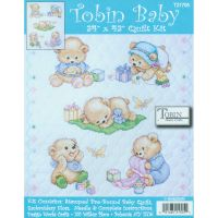 Baby Bears Quilt Stamped Cross Stitch Kit NOTM371290