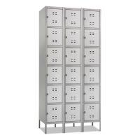 Safco Three-Column Box Locker, 36w x 18d x 78h, Two-Tone Gray SAF5527GR