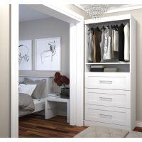 """Bestar Pur by Bestar 36"""" storage unit with 3-drawer set in White BESBES2687217"""