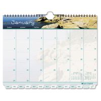 Day-Timer Coastlines Tabbed 12-Month Wirebound Wall Calendar, 11 x 8 1/2, 2019 DTM11352