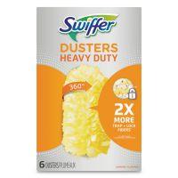 Swiffer Heavy Duty Dusters Refill, Dust Lock Fiber, Yellow, 6/Box PGC21620BX