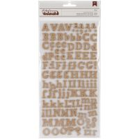 "DIY Thickers Alphabet Stickers 6""X11"" Sheets 2/Pkg NOTM361625"