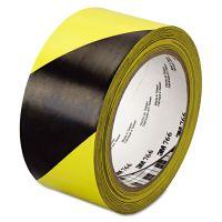 "3M 766 Hazard Warning Tape, Black/Yellow, 2"" x 36yds MMM02120043181"