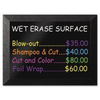 MasterVision Kamashi Wet-Erase Board, 36 x 24, Black Frame BVCMM07151620