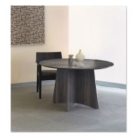 Safco Mayline Medina Laminate Conference Table, 48 dia. x 29 1/2h, Gray Steel MLNMNCR48LGS