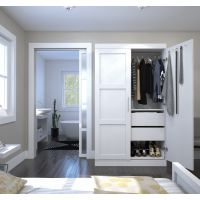 Bestar Pur by Bestar Pullout Armoire in White BESBES2686117