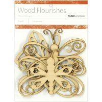 Wood Flourishes 4/Pkg NOTM386983