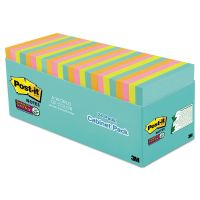 Post-it Notes Super Sticky Pads in Miami Colors, 3 x 3, 70/Pad, 24 Pads/Pack MMM65424SSMIACP