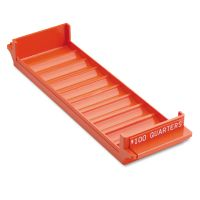 MMF Industries Porta-Count System Rolled Coin Plastic Storage Tray, Orange MMF212082516