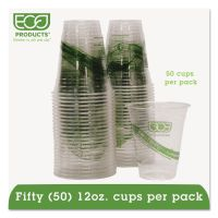 Eco-Products GreenStripe Renewable & Compostable Cold Cups Convenience Pack- 12oz., 50/PK ECOEPCC12GSPK