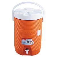 "Rubbermaid Water Cooler, 12 1/2"" dia x 16 3/4h, Orange RUB1683ORG"