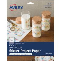 "Full-Sheet Sticker Project Paper 8.5""X11"" 7 Sheets NOTM436325"