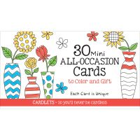 Coloring Cafe Mini All Occasion Coloring Cards 30/Pkg NOTM443904