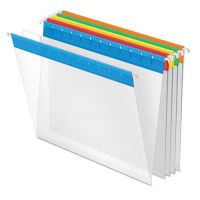 Pendaflex Poly Hanging File Folders, 1/5 Tab, Letter, Assorted Colors, 25/Box PFX55708