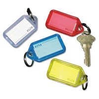 SecurIT Extra Color-Coded Key Tags for Key Tag Rack, 1 1/8 x 2 1/4, Assorted, 4/Pack PMC04993