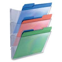 Universal 3 Pocket Wall File Starter Set, Letter, Clear UNV53682