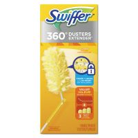Swiffer 360 Dusters, Plastic Handle Extends to 3 ft, 1 Handle & 3 Dusters/Kit PGC82074