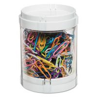 deflecto Interlocking Stacking 1-Bin Organizer, 2 Lids/Bases, 3 dia x 3 9/10, White/Clear DEF201101