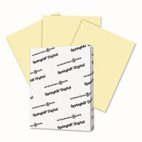 Springhill Digital Vellum Bristol Color Cover, 67 lb, 8 1/2 x 11, Canary, 250 Sheets/Pack SGH036000