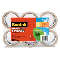 """Scotch Moving & Storage Tape, 1.88"""" x 49.2yds, 3"""" Core, Clear, 6/Pack MMM3650G6"""
