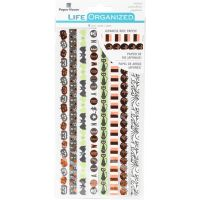 "Paper House Life Organized Rice Paper Border Stickers 8""X4"" NOTM530149"