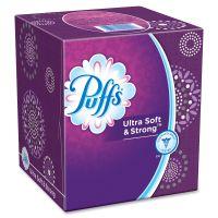 Puffs Ultra Soft Facial Tissue, White, 2-Ply, 56/Bx, 3 Box/Pk, 8 Pk/Carton PGC35045CT