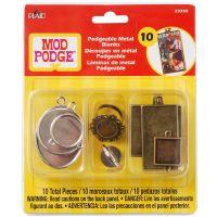 Mod Podge Podgeable Metal Blanks 10/Pkg NOTM048567
