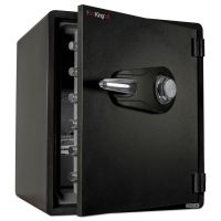 FireKing One Hour Fire and Water Safe with Combo Lock, 2.14 cu. ft., Graphite FIRKY19151GRCL