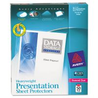 Avery Top-Load Poly Sheet Protectors, Letter, Heavy Gauge, Diamond Clear, 50/Box AVE74106