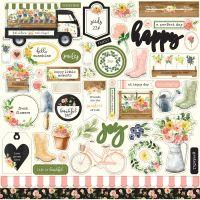 "Spring Market Cardstock Stickers 12""X12"" NOTM335091"