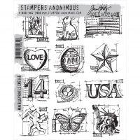 "Tim Holtz Cling Rubber Stamp Set 7""X8.5"" NOTM014759"