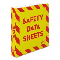 "Avery Safety Data Sheet Heavy-Duty Non-View Preprinted Binder, 1 1/2""Cap, Yellow/Red AVE18950"