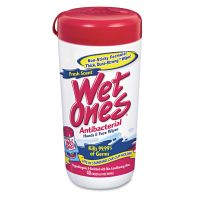 Wet Ones Antibacterial Moist Towelettes, Cloth, 5 3/4 x 7 1/2, 40/Dispenser, 12/Carton PLX04703CT