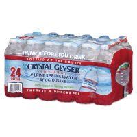 Crystal Geyser Alpine Spring Water, 16.9 oz Bottle, 24/Case CGW24514CT