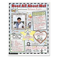 """Scholastic Instant Personal Poster Sets, Read All About Me, 17"""" x 22"""", 30/Pack SHS0439152852"""