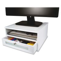 Victor W1175 Pure White Monitor Riser VCTW1175
