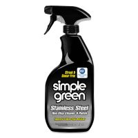 Simple Green Stainless Steel One-Step Cleaner & Polish, 32oz Spray Bottle SMP18300