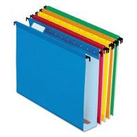 "Pendaflex Poly Laminate Hanging Folders, 1/5 Tab, 2"" Expansion, Letter, Assorted, 20/Box PFX6152X2ASST"