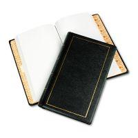 Wilson Jones Looseleaf Minute Book, Black Leather-Like Cover, 250 Unruled Pages, 8 1/2 x 14 WLJ039531