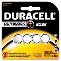 Duracell Lithium Medical Battery, 3V, 2032, 4/Pk DURDL2032B4PK