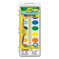 Crayola Washable Watercolor Paint, 16 Assorted Colors CYO530555