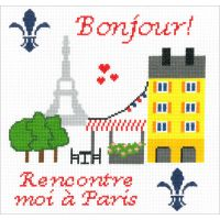 Meet Me In Paris Counted Cross Stitch Kit NOTM098834