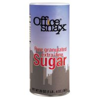 Office Snax Reclosable Canister of Sugar, 20 oz OFX00019
