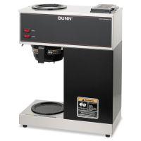 BUNN VPR Two Burner Pourover Coffee Brewer, Stainless Steel, Black BUNVPR