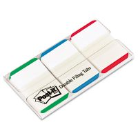 Post-it Tabs File Tabs, 1 x 1 1/2, Lined, Blue/Green/Red, 66/Pack MMM686LGBR
