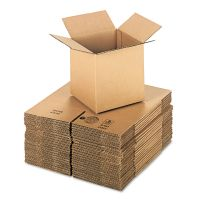 General Supply Brown Corrugated - Cubed Fixed-Depth Shipping Boxes, 8l x 8w x 8h, 25/Bundle UFS888